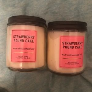 Bath & Body Works Accents - Strawberry Pound Cake Bath and Body Works Candles